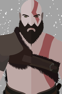 480x800 God Of War Kratos Minimalist 4k