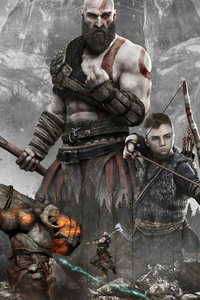 1080x2160 God Of War Uhd 4k