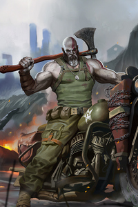 1125x2436 God Of War Ww2