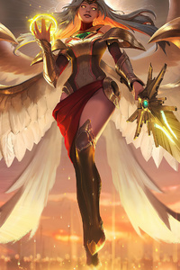 1440x2560 Goddess With Eagle Wings 4k
