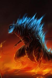 640x960 Godzilla Fire Escape 5k