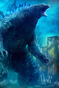 320x480 Godzilla King Of The Monsters Movie 4k Art