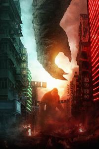 640x1136 Godzilla Vs Kong 2021 5k
