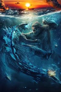 Godzilla Vs Kong Chinese Poster 5k