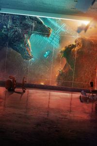 Godzilla Vs Kong Movie Poster 5k