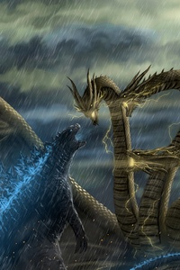 480x800 Godzilla Vs Monsters