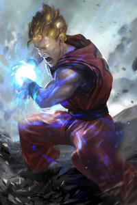 750x1334 Goku 4k Art
