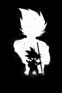 800x1280 Goku Anime Dark Black 4k