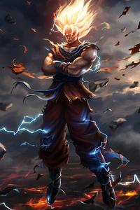 750x1334 Goku Art