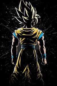 1280x2120 Goku Back