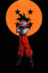 640x960 Goku Dragon Ball Dark 5k