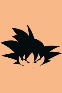 Goku Flat Minimal 8k