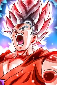 1242x2688 Goku Kaioken 4k