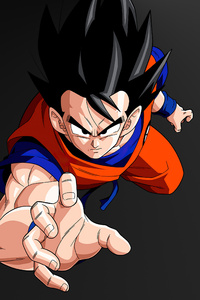 1280x2120 Goku Minimal Dark 5k