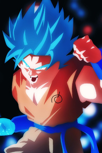 1440x2960 Goku SSB Ki Blade