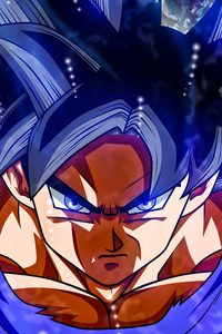 1242x2688 Goku Ultra Instinct Refresh 8k
