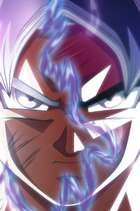 320x480 Goku Ultra Instinct Transformation 5k