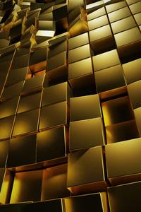 Gold 3d Cubes 4k