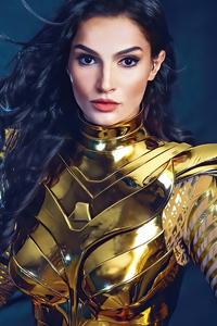 540x960 Gold Armor Wonder Woman Cosplay 4k