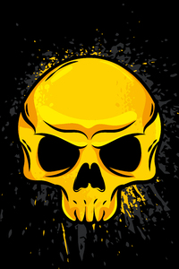 1080x2160 Gold Skull 4k