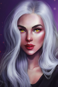 1242x2688 Golden Eyes Fantasy Girl