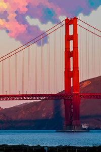 Golden Gate Bridge Digital Art