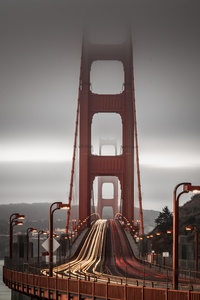 320x480 Golden Gate Bridge Long Exposure 8k