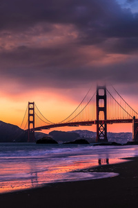 1125x2436 Golden Gate Bridge SanFrancicso 4k