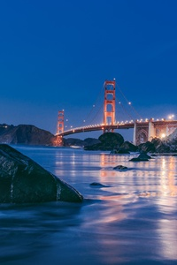 1080x2280 Golden Gate Bridge Sunset 8k