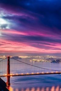 Golden Gate Bridge Sunset Night Time 4k Hd