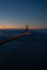 Golden Gate Covered In Fog 8k
