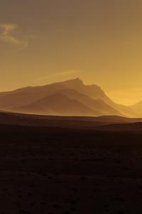 Golden Hour Orange Sunrise Mountains View