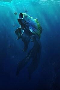1242x2688 Goldfish Piranha