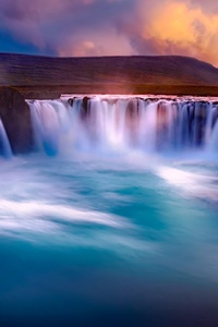 480x854 Gooafoss Iceland Waterfall