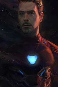 480x854 Goodbye Iron Man 4k