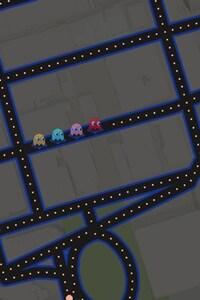 Google Maps Pacman Art