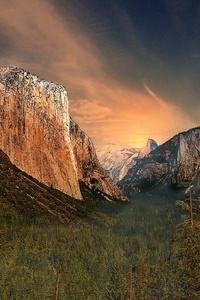 320x480 Gorgeous Yosemite Valley El Captain 4k