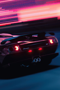 1080x2280 Gran Turismo Sport Synthwave 4k