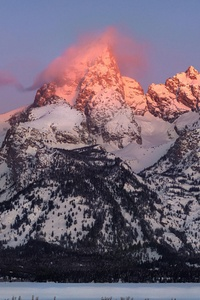 320x568 Grand Teton Alpenglow