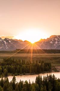 1440x2560 Grand Tetons Landscape 4k