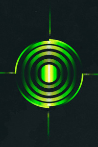 320x480 Green Abstract Circle 4k