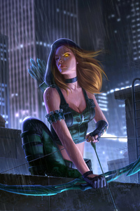 2160x3840 Green Arrow Girl