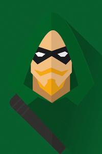 1080x1920 Green Arrow Minimal