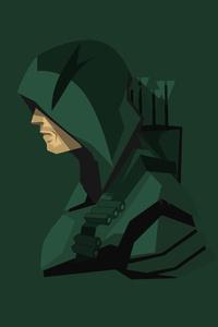 Green Arrow Minimalism 4k