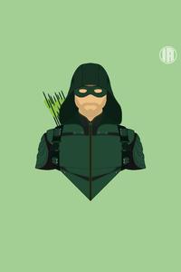 Green Arrow Minimalism 8k