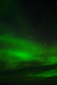 1080x2160 Green Aurora Borealis 8k