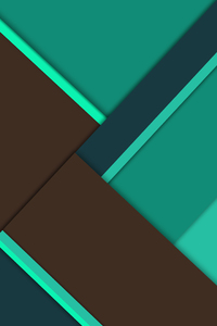 240x320 Green Brown Material Design 8k