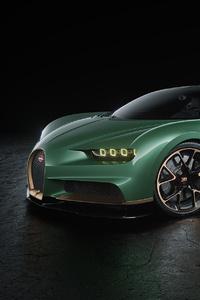 Green Bugatti Chiron CGI