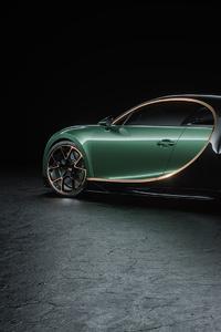 Green Bugatti Chiron Rear