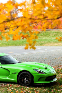 Green Dodge Viper GTC 4k